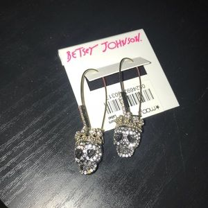 Betsey Johnson Skull Earrings